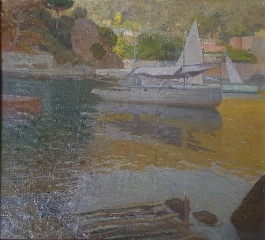 DODERI PIETRO, Portofino.Porto. 1919, lio su tela