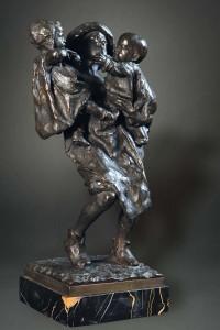 BISTOLFI 1, bronzo a cera persa, cm 38x21x15,5