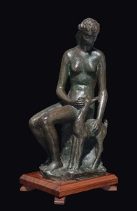 CASTAGNINO,bronzo, altezza cm 36