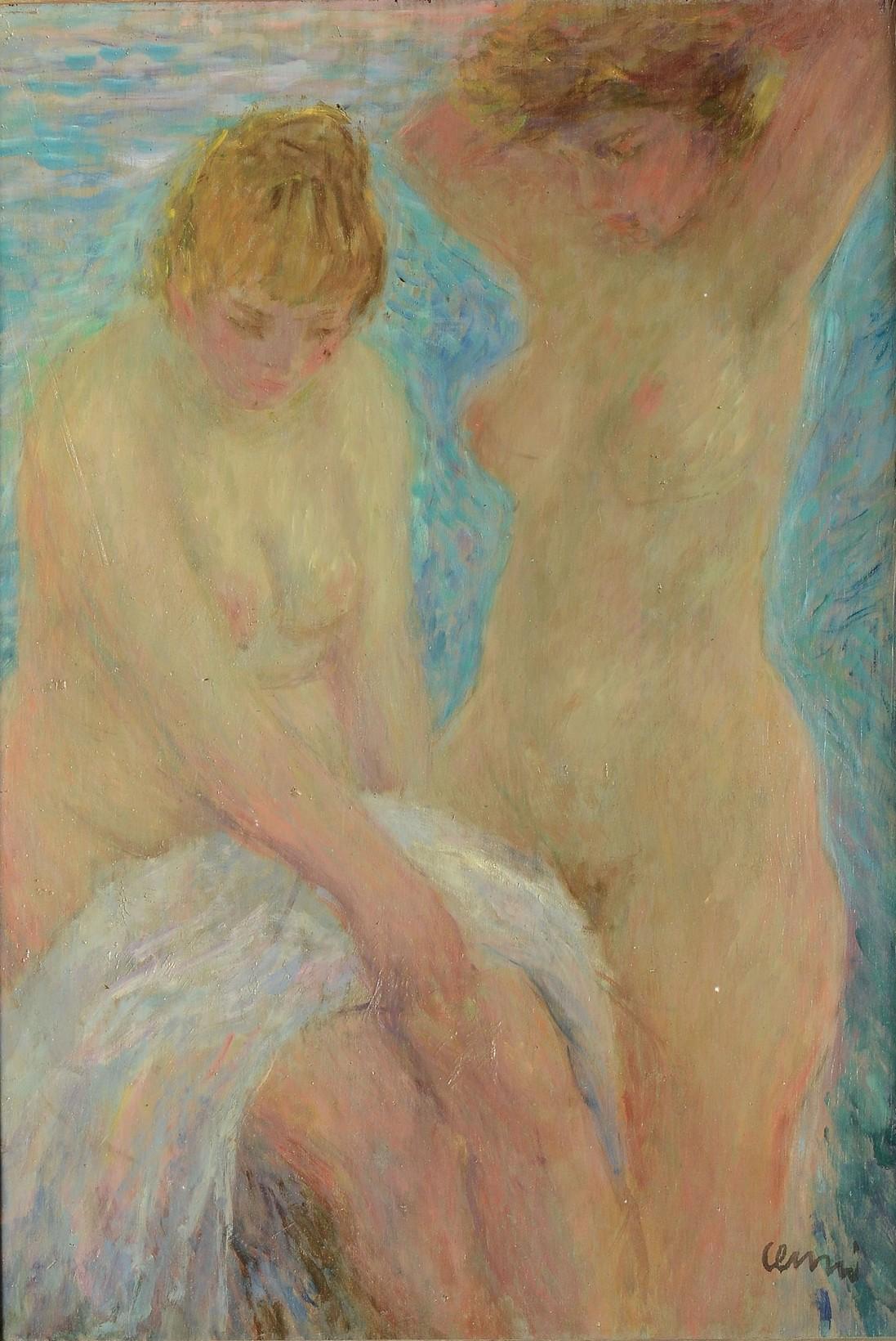 CENNI, olio su tavola, cm 67x46, firmato in basso a destra