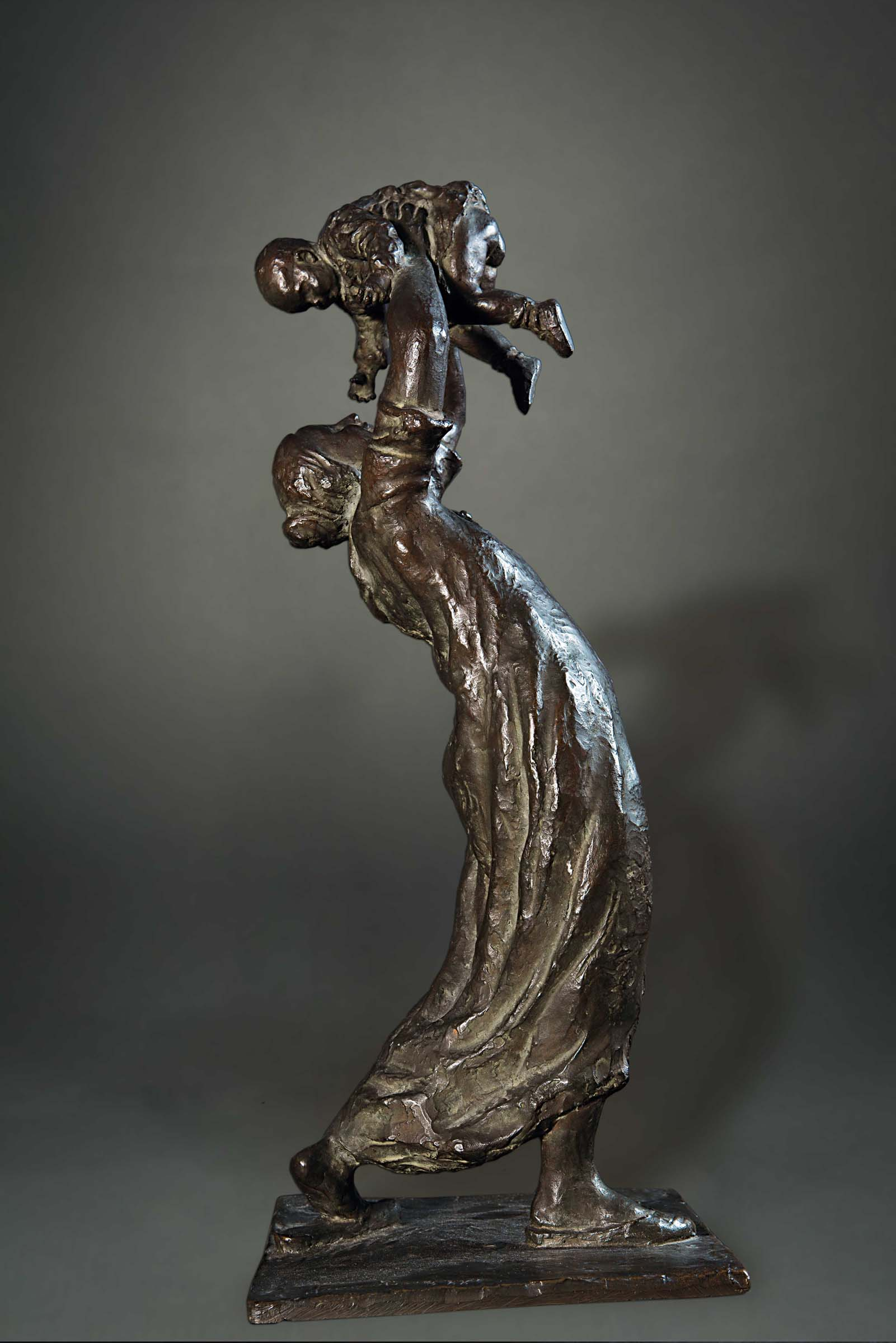 BARGIGGIA 2,bronzo a cera persa, cm 22x20x58