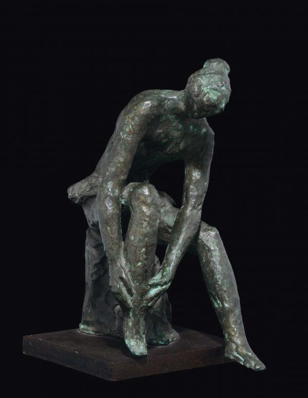 CASTAGNINO, bronzo, cm 14x20x29