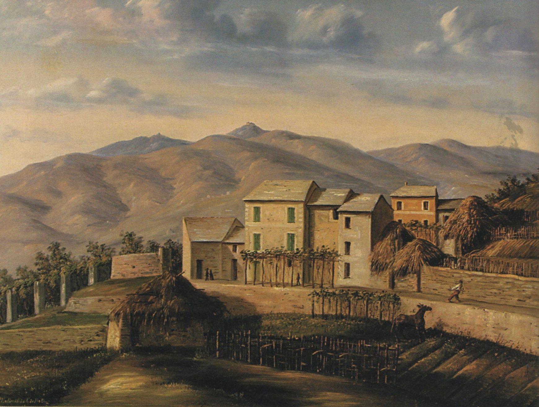 MOLINELLI GIOVANNI BATTISTA, Paese dell'emtroterra ligure, (1860)